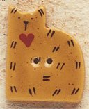 43003 - Gold Quilt Cat - 7/8in x 1in
